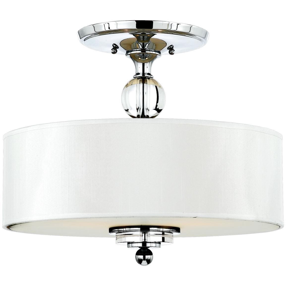 Downtown Large Semi-flush Light Fixture from Quoizel®, Polished Chrome