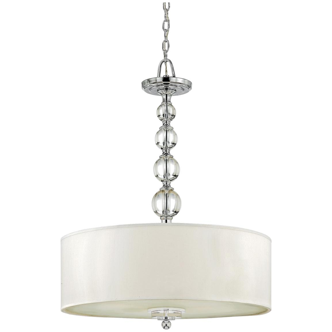 Downtown 4-light Pendant Fixture from Quoizel®, Polished Chrome