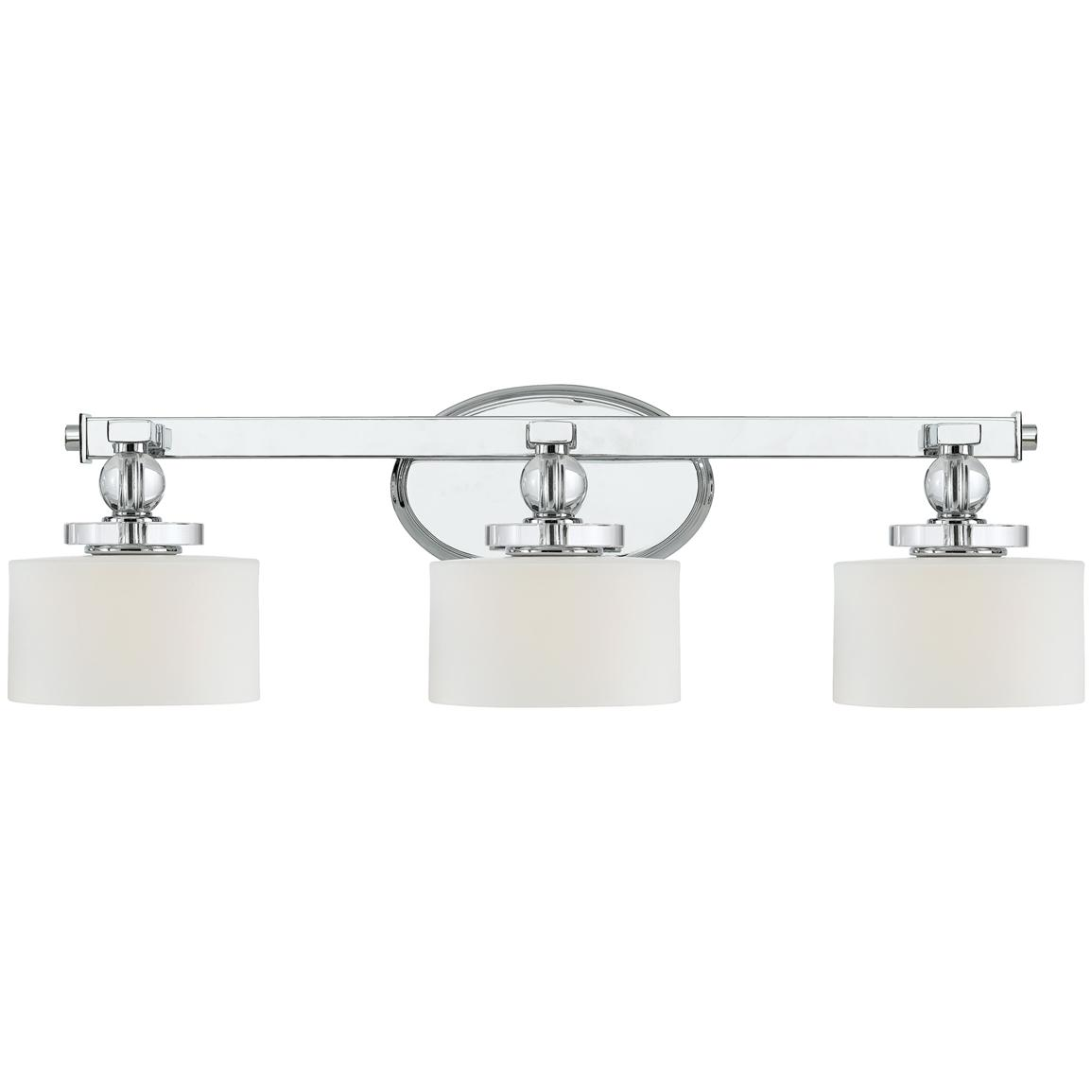 Downtown 3-light Bath Fixture from Quoizel®, Polished Chrome