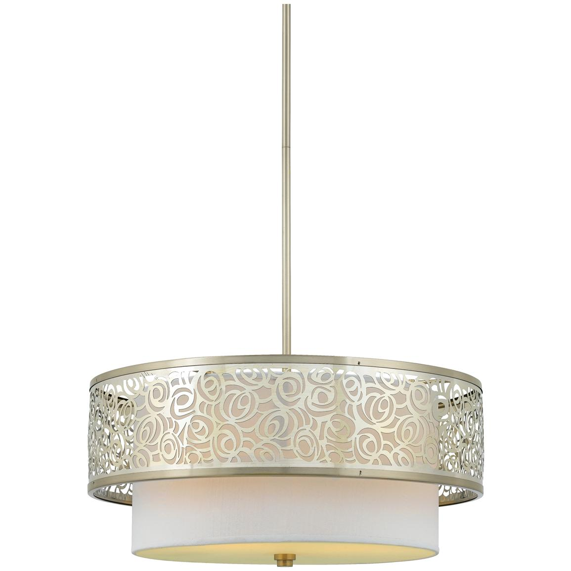 Josslyn 3-light Pendant from Quoizel®, Brushed Nickel