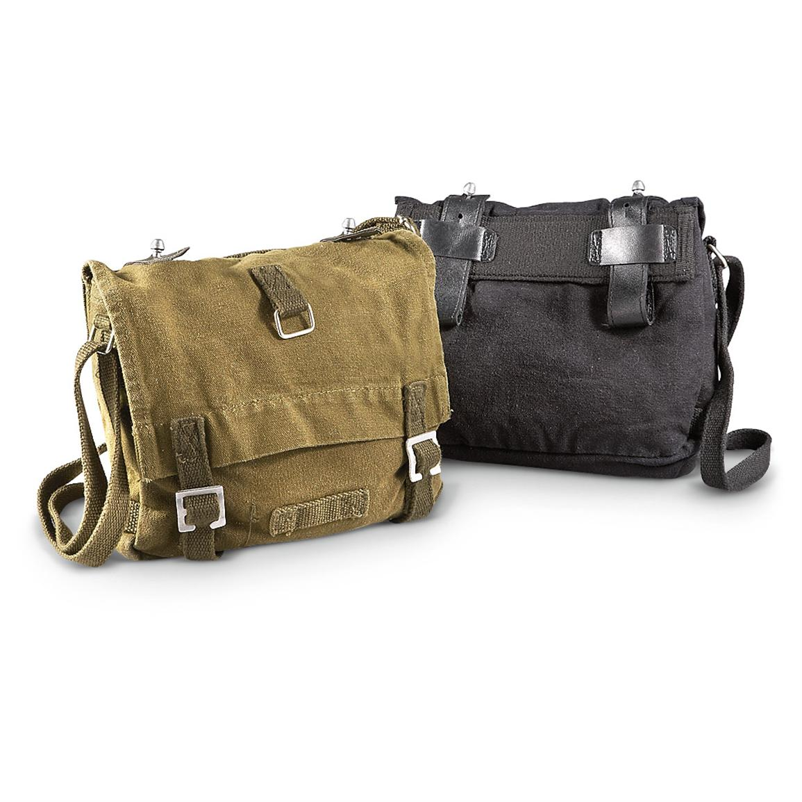 Mil-Tec® Military-style Shoulder / Bread Bag, Olive Drab / Black; 200-cu. in. capacity