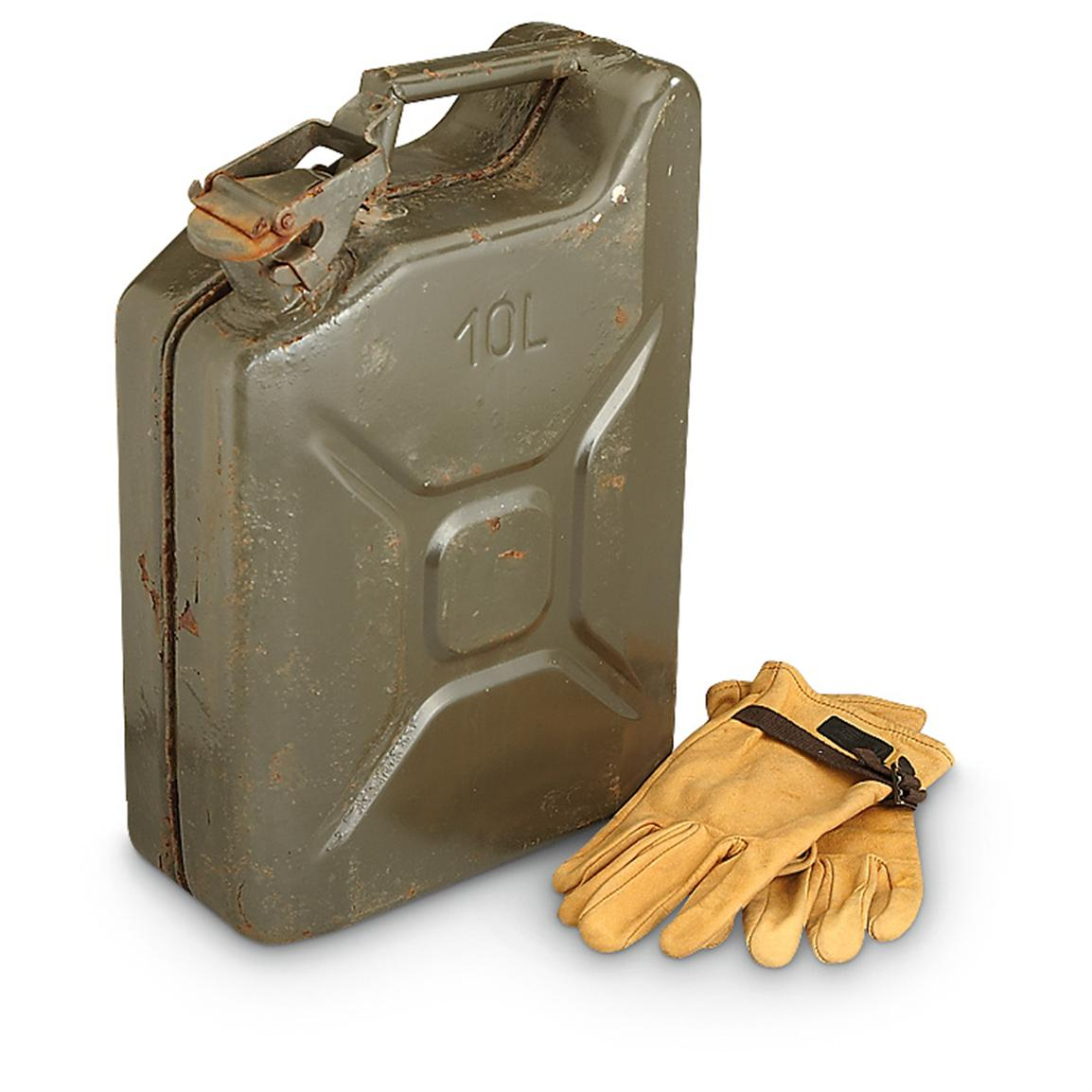 Used Czech Military NATO-style 10L Jerry Can
