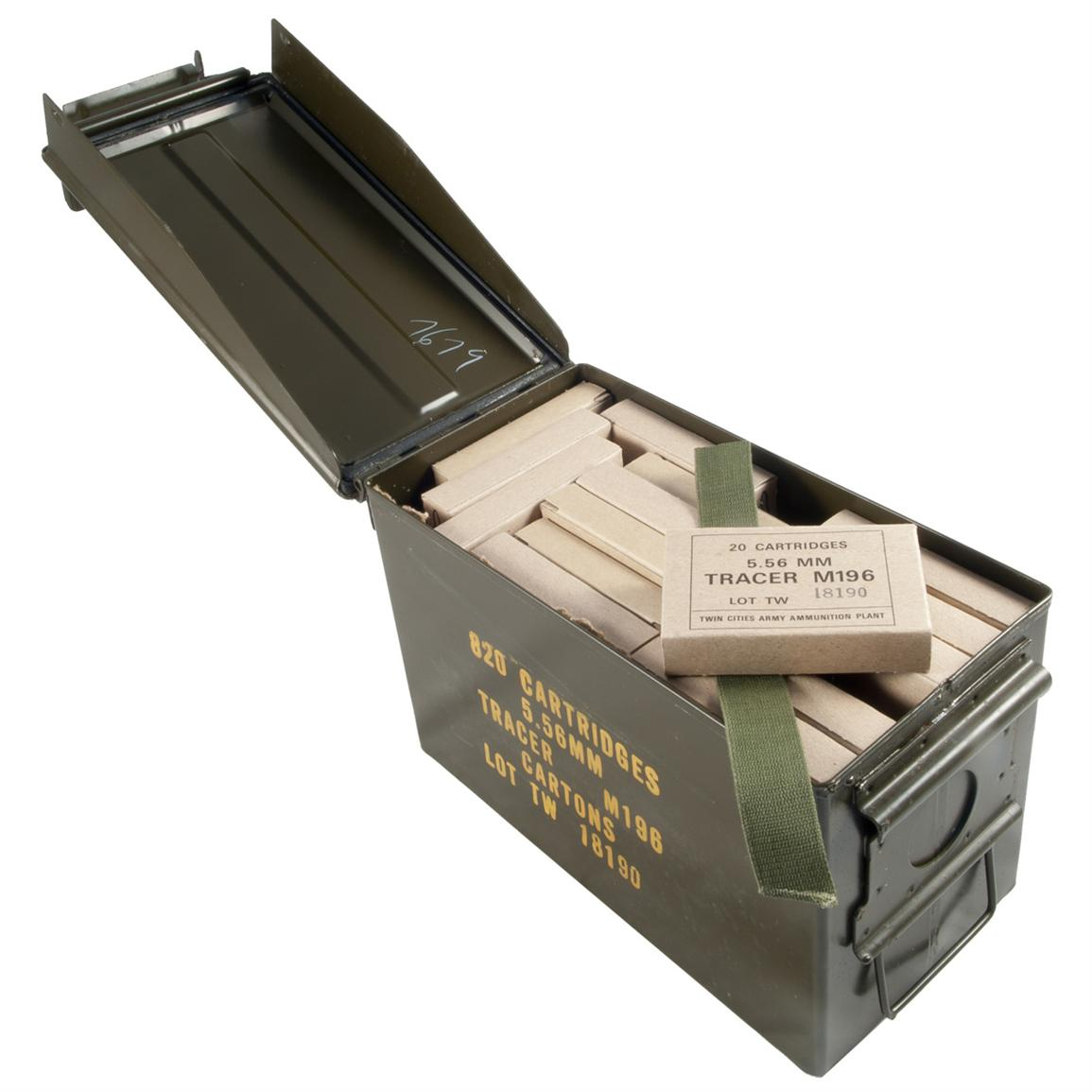 820 rounds Lake City .223 (5.56x45mm) 54-grain Tracer Ammo