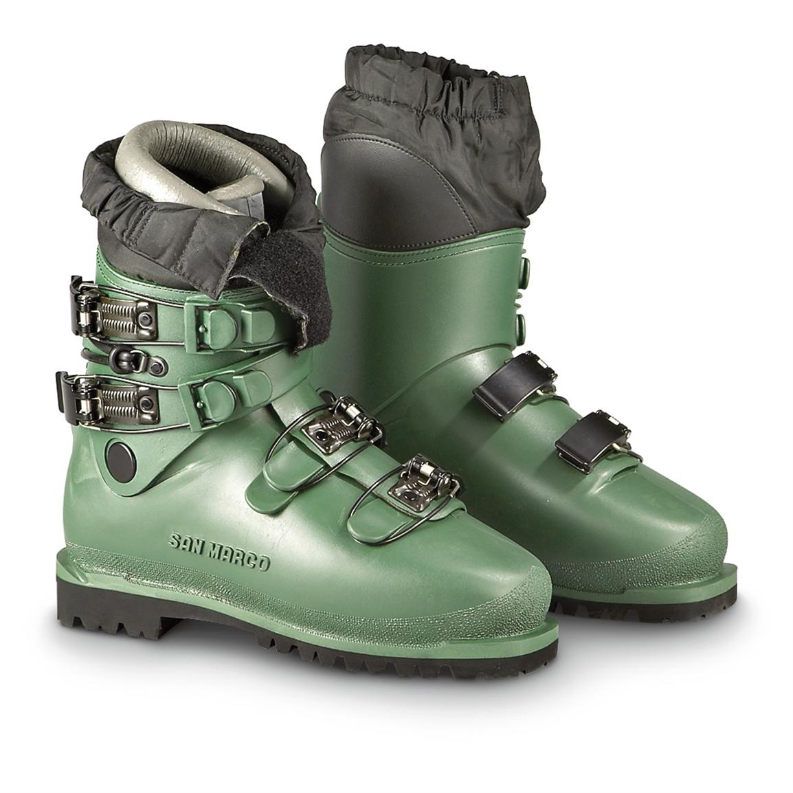 New Men's Italian Military Mountaineering Boots, Olive Drab