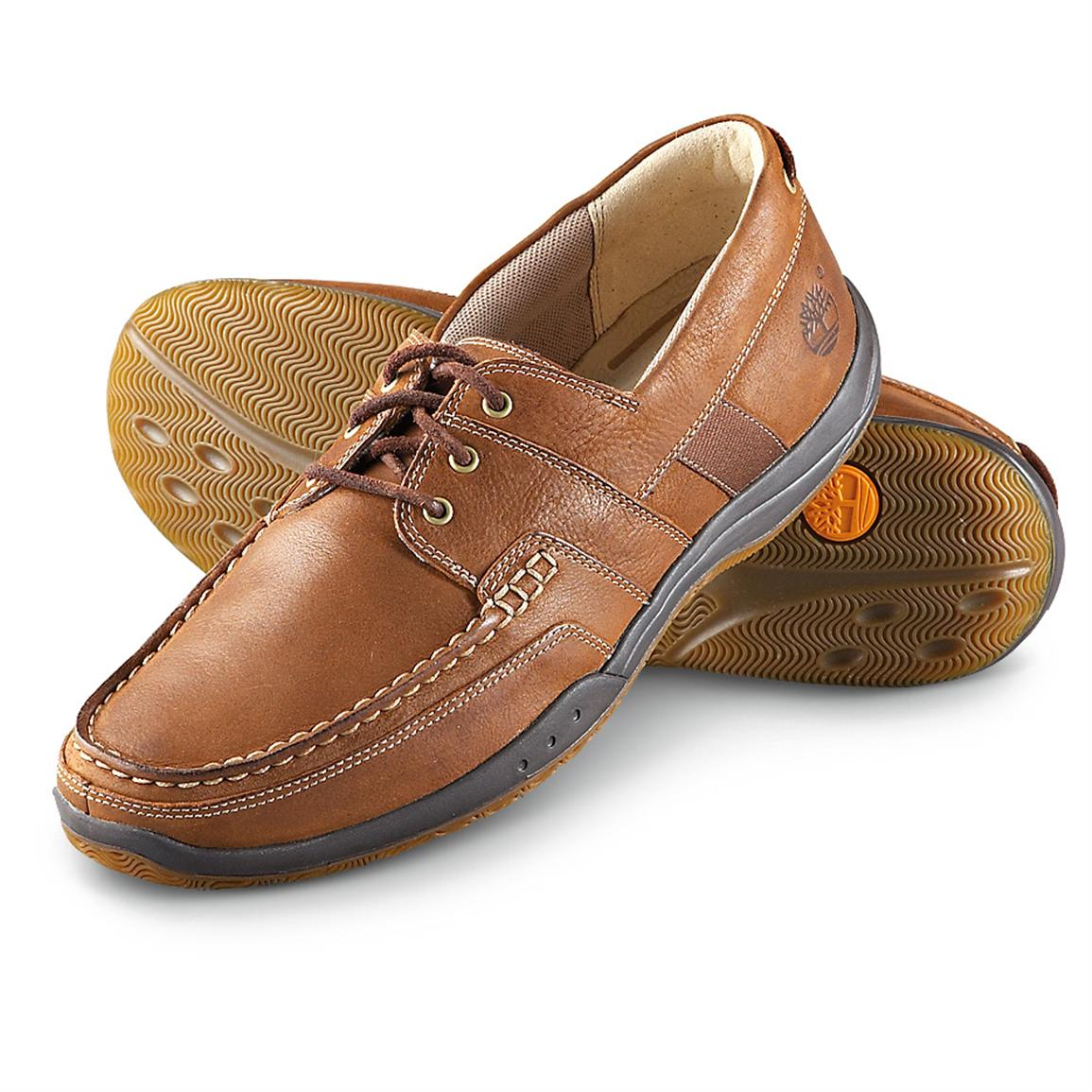 Men's Timberland® Earthkeepers® 3-eyelet Boat Shoes, Earth Brown