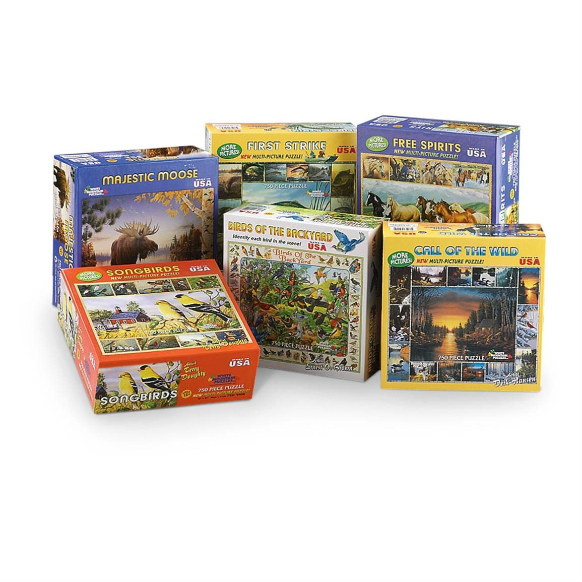 6 Mountain Nature 750-Pc. Puzzles