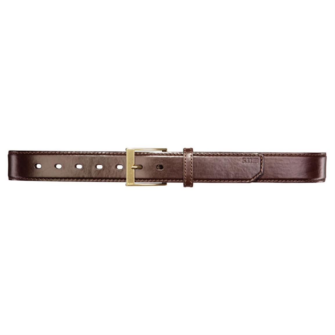 "5.11 Tactical® 1 1/2"" Leather Casual Belt, Classic Brown"