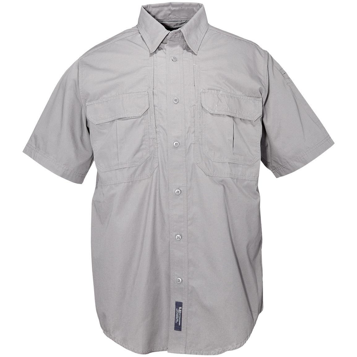 Men's 5.11 Tactical Short-sleeved Cotton Shirt, Gray