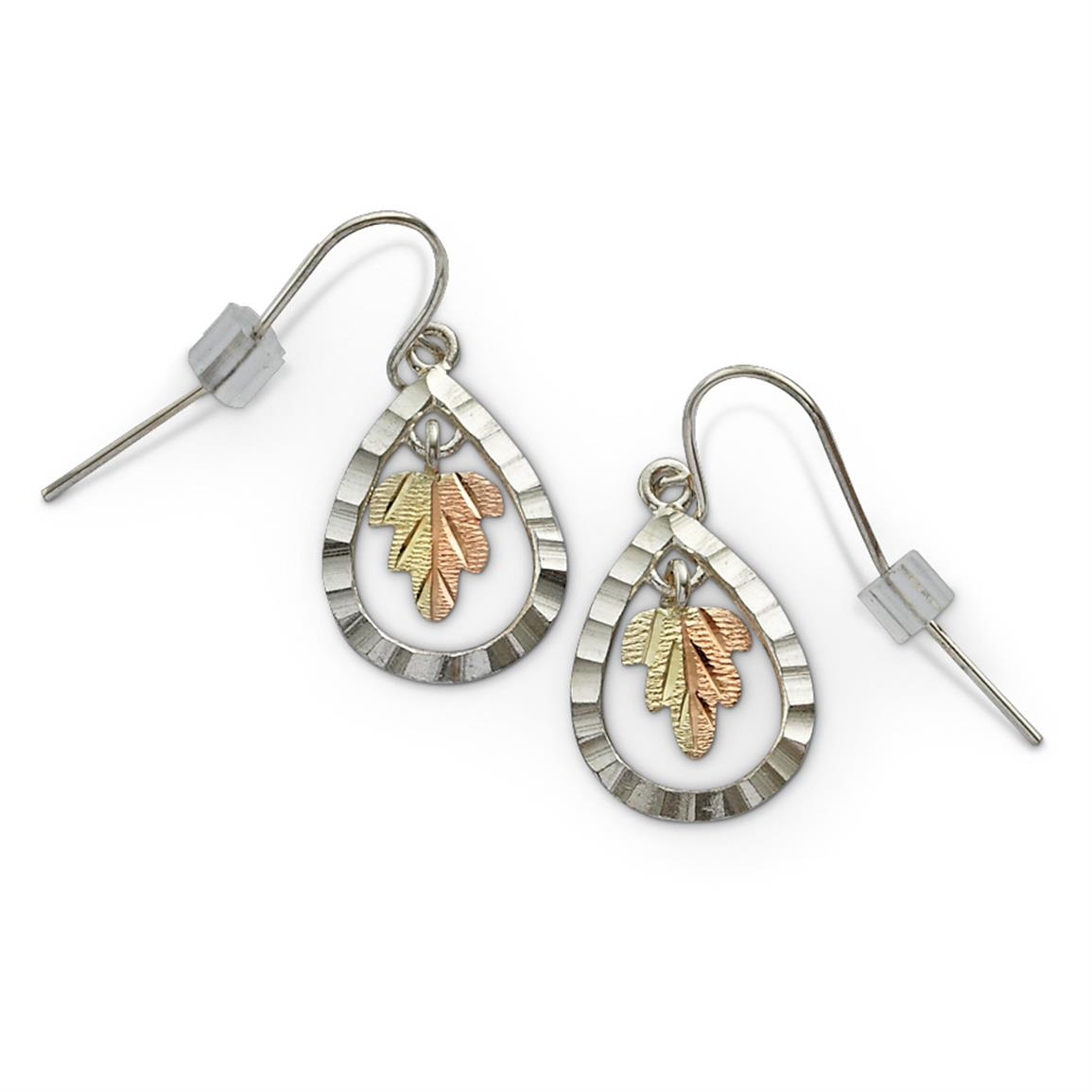 Landstrom's® Black Hills Gold Teardrop Earrings