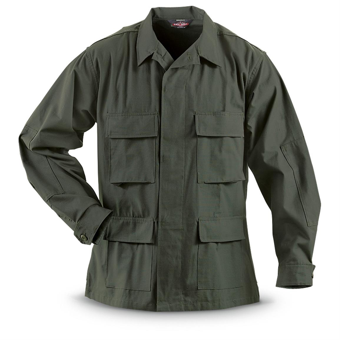 HQ ISSUE™ BDU Military-style Shirt, Olive Drab
