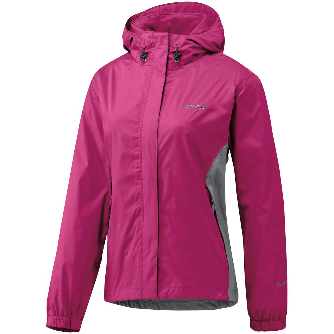 Women's Hi-Tec® Pour-off Waterproof / Breathable Shell Jacket, Pinot / November