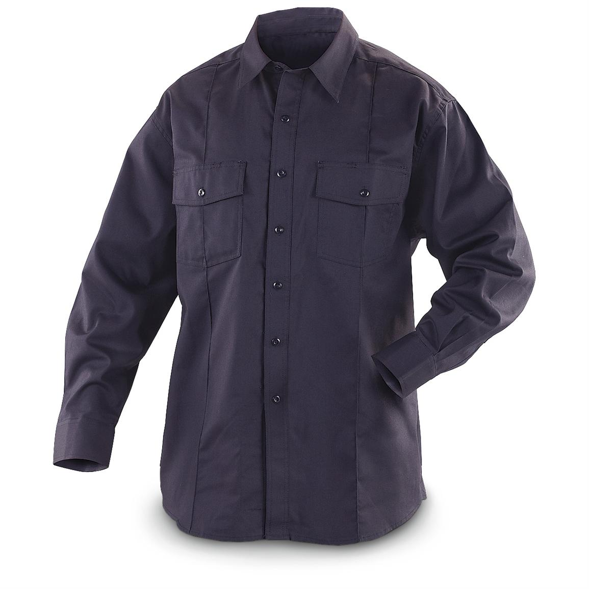 Men's 5.11 Tactical® FR-x3 Long-sleeved Fire-resistant Station Shirt, Fire Navy