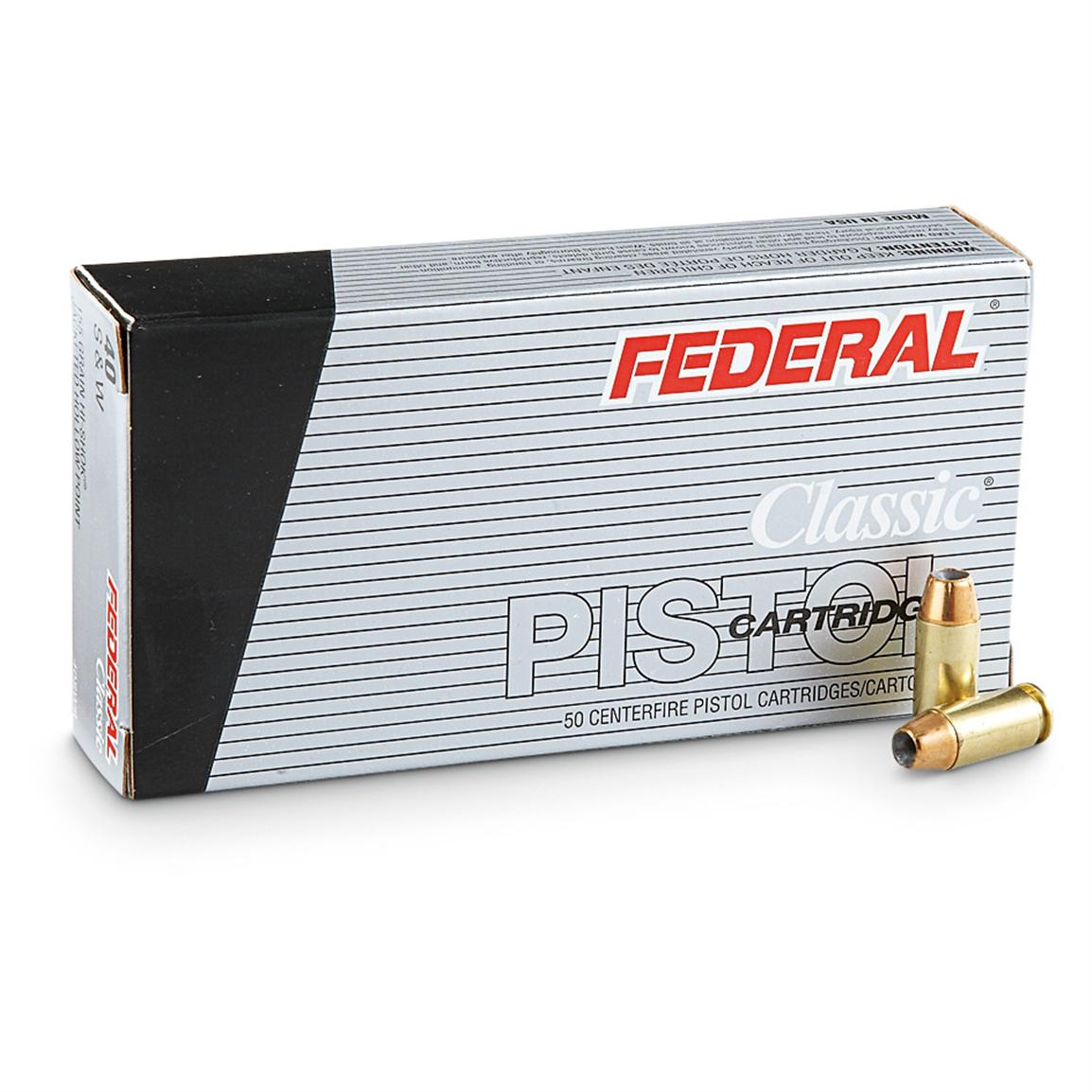 Federal, .40 S&W, JHP, 155 Grain, 250 Rounds
