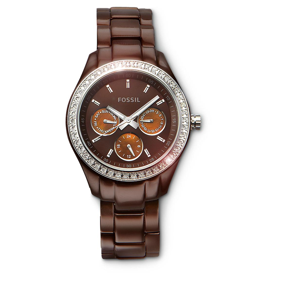 Women's Fossil® Watch, Brown