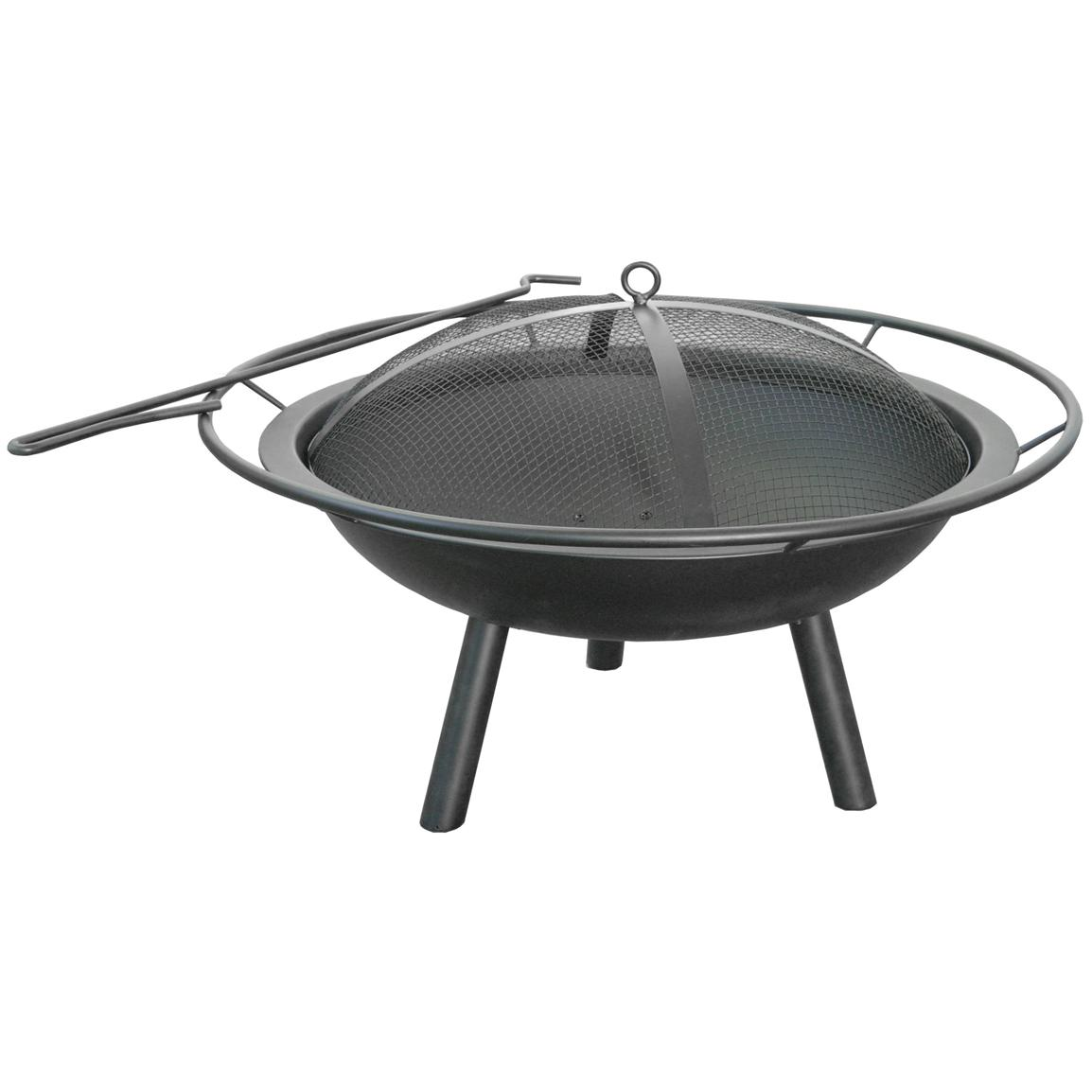 Halo Steel Bowl Firepit, Black