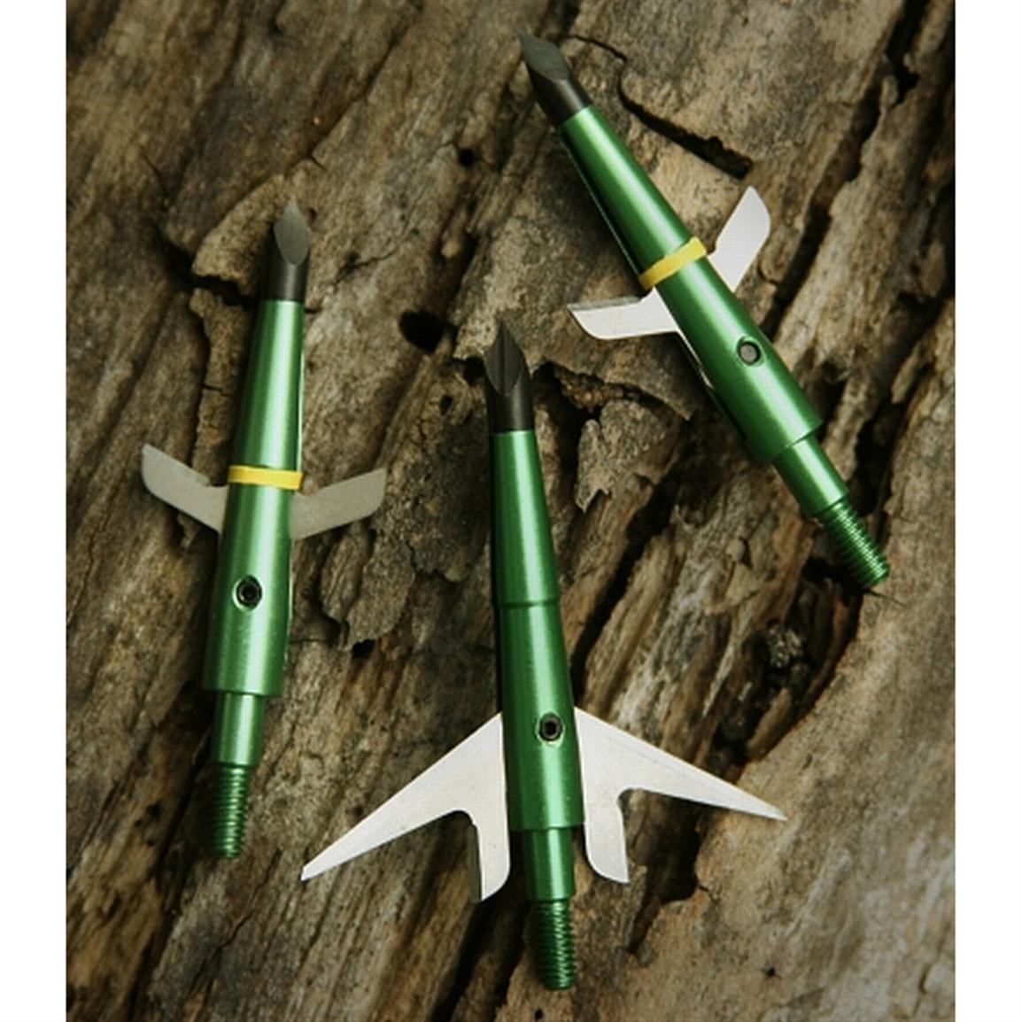 3-Pk. Swhacker® 2 inch Expandable 100 Grain 2-blade Broadheads