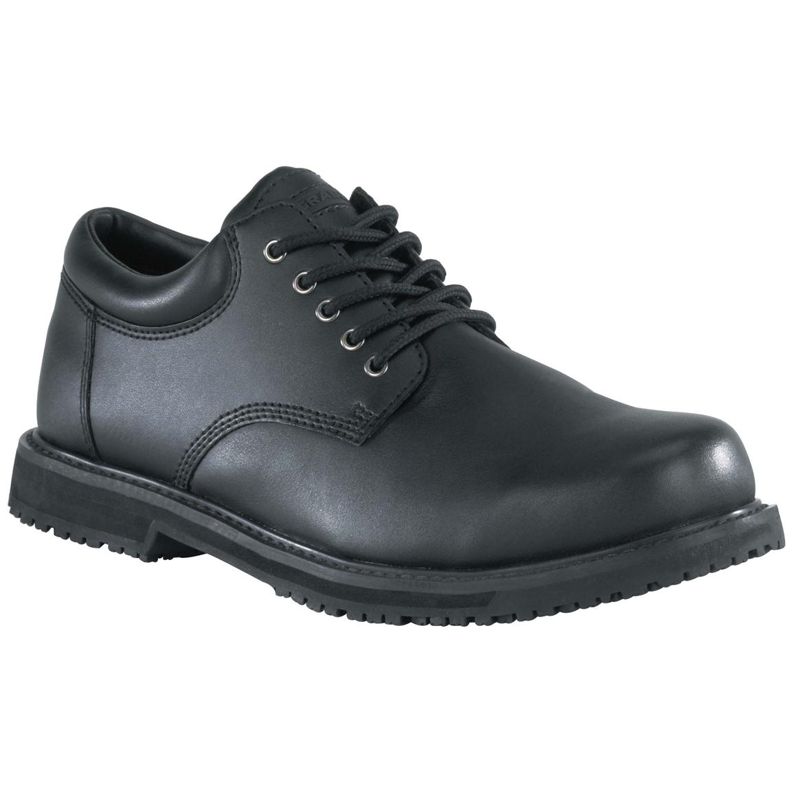 Men's Grabbers® SureGrip Plus Work Oxfords, Black