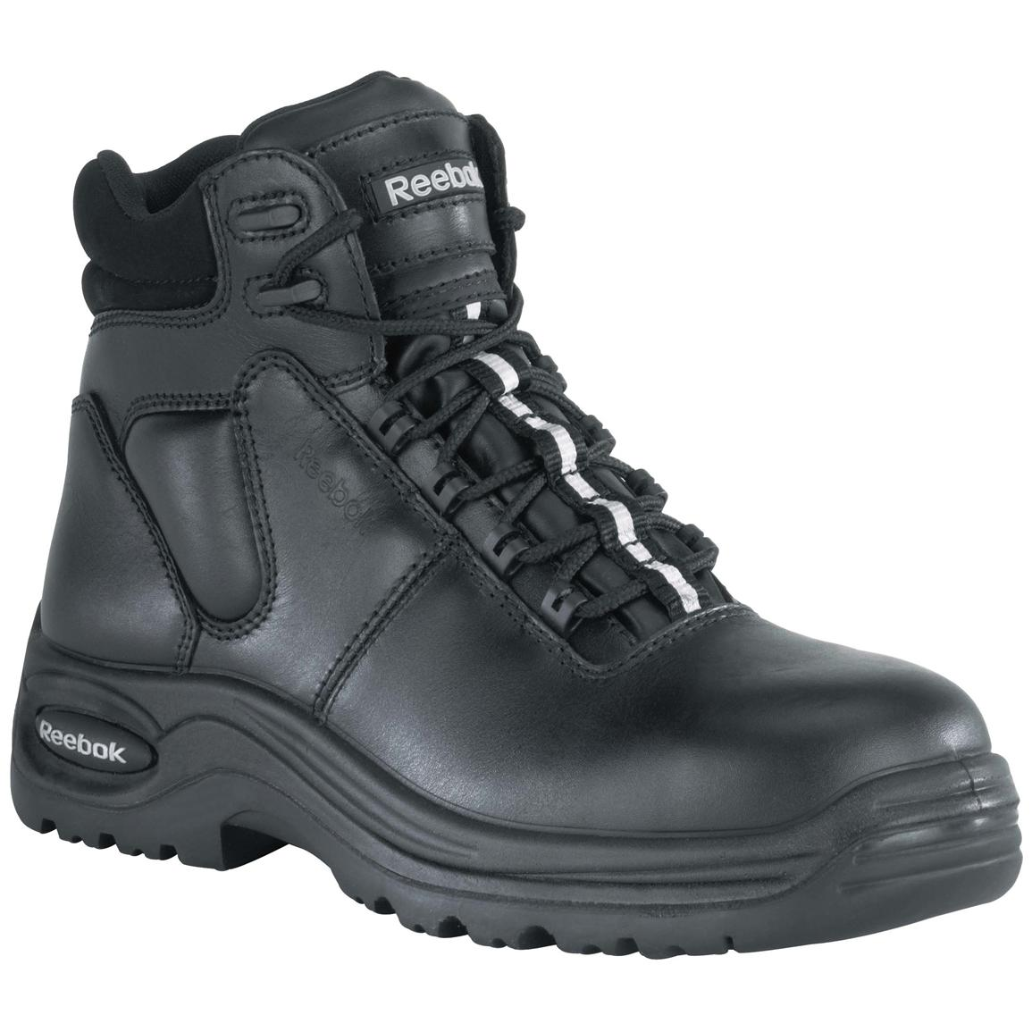 "Men's 6"" Reebok® Composite Safety Toe Sport Boots, Black"