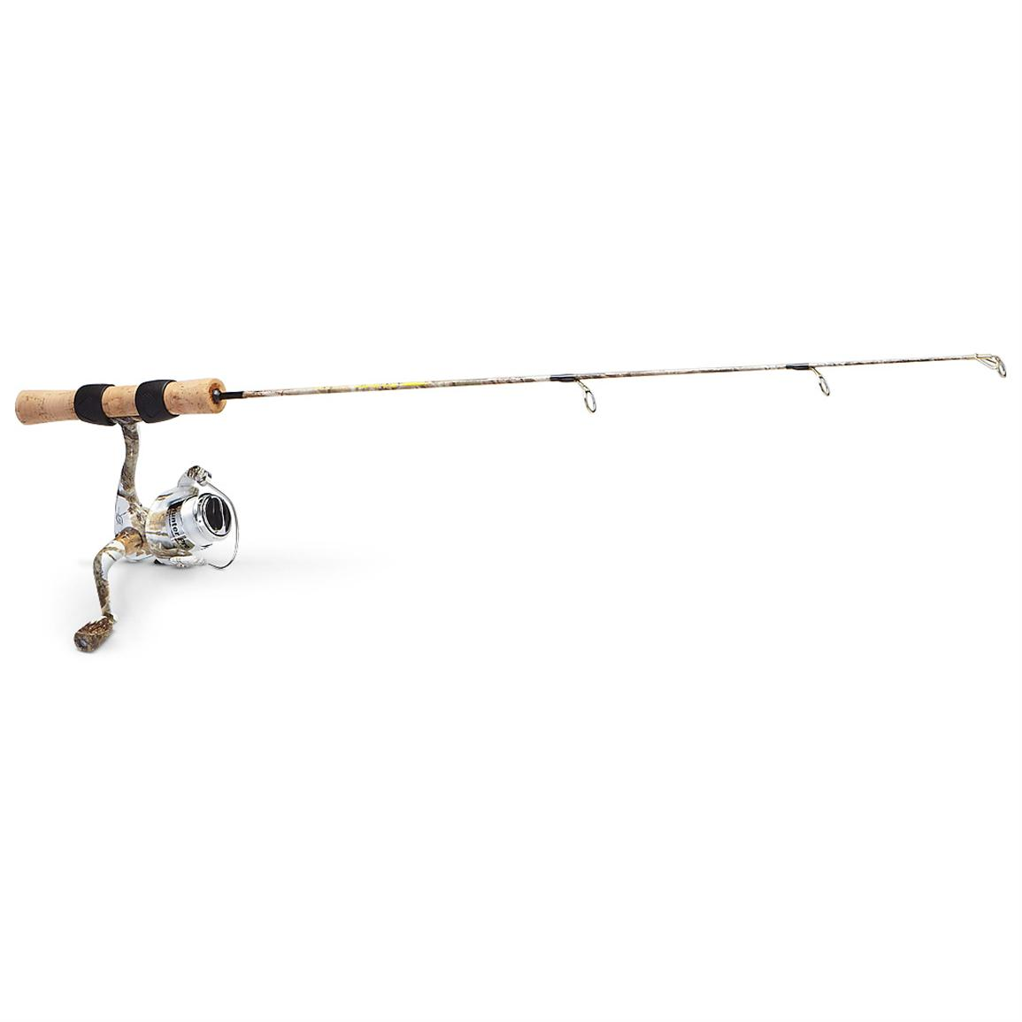 ht snow camo ice fishing rod reel combo 232015 ice