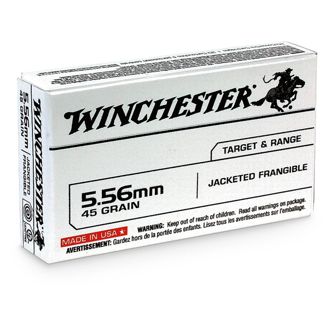 Winchester® .223 (5.56x45mm) 45-gr. Frangible Ammo