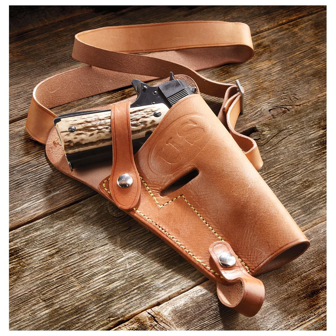 U.S. Military-style Leather Shoulder Holster, Tan