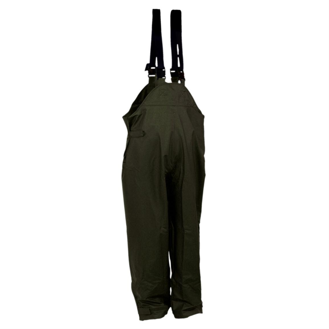 Men's WATERPROOF StormHide Down Pour Bibs from Gamehide, Loden