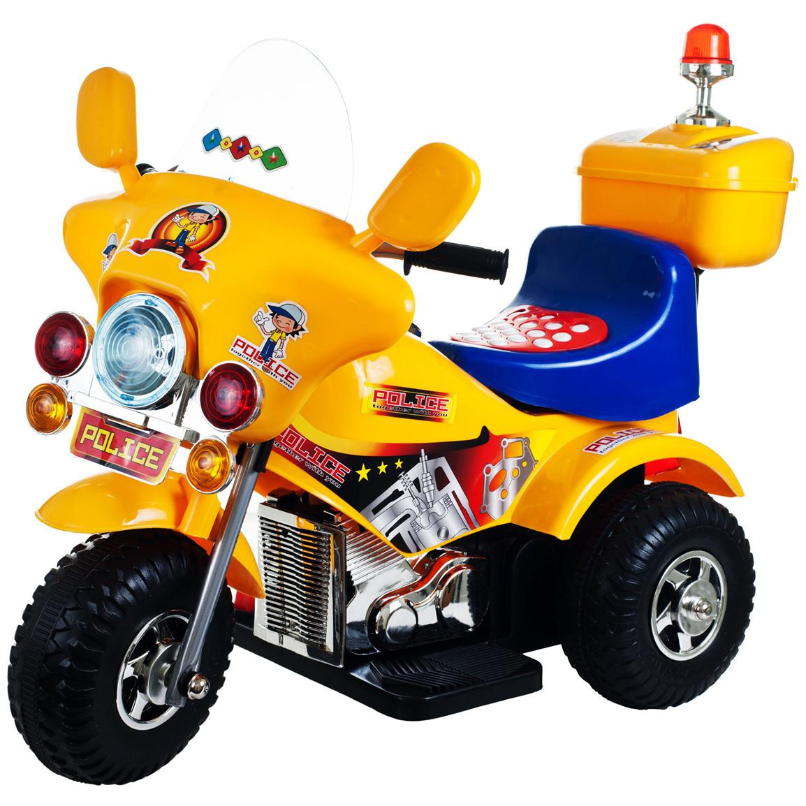 Lil' Rider™ Debutante Battery-Operated Police Bike, Yellow