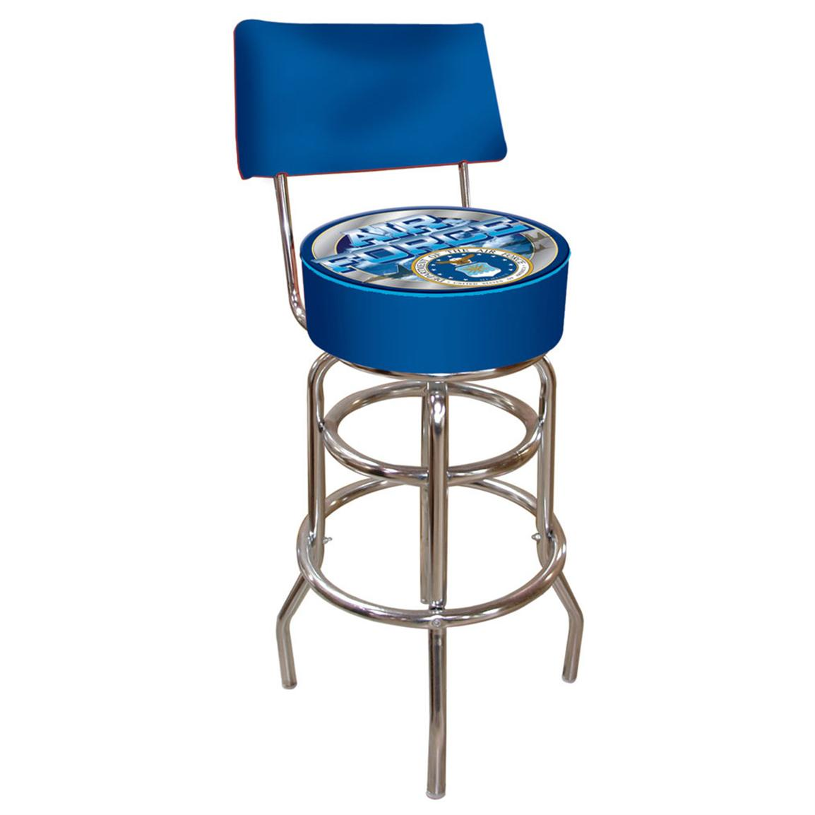 Military Padded Bar Stool With Back 232594 At Sportsman