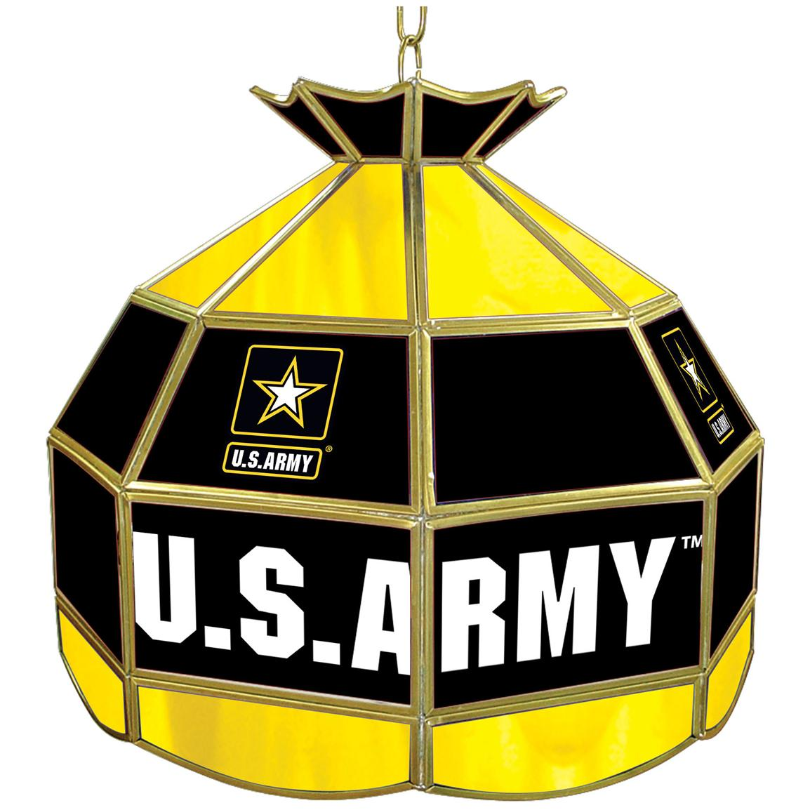 Military 16 inch Tiffany-style Lamp, Army