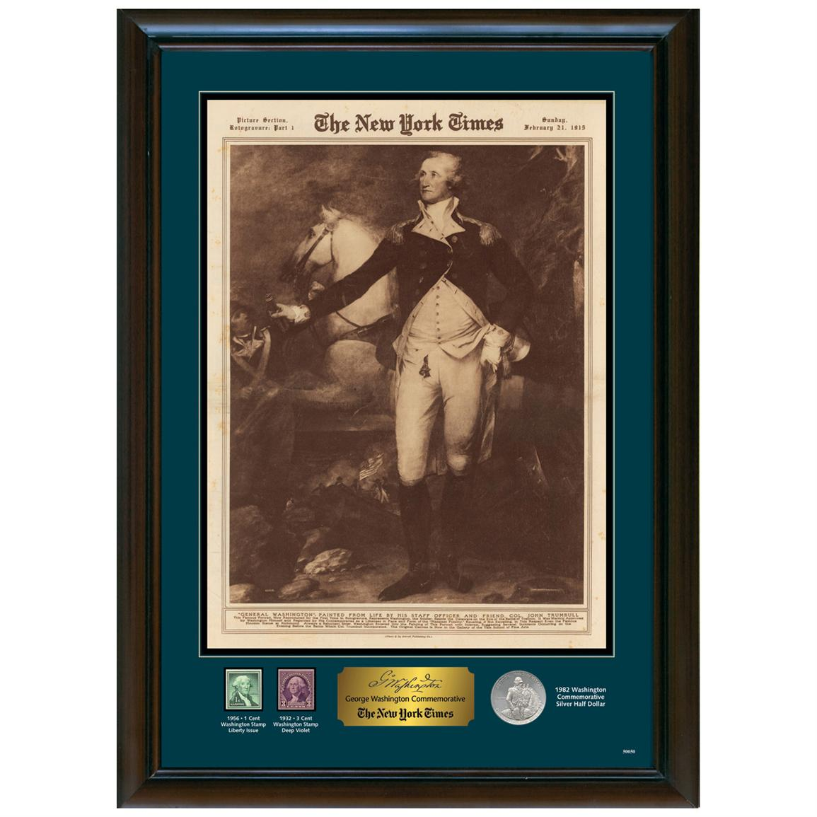 The New York Times George Washington Commemorative Display from Unified Precious Metals