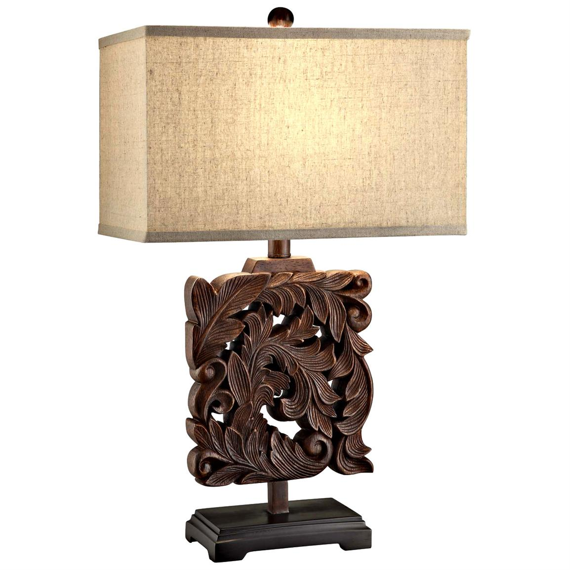 Crestview® Carved Artifact Table Lamp