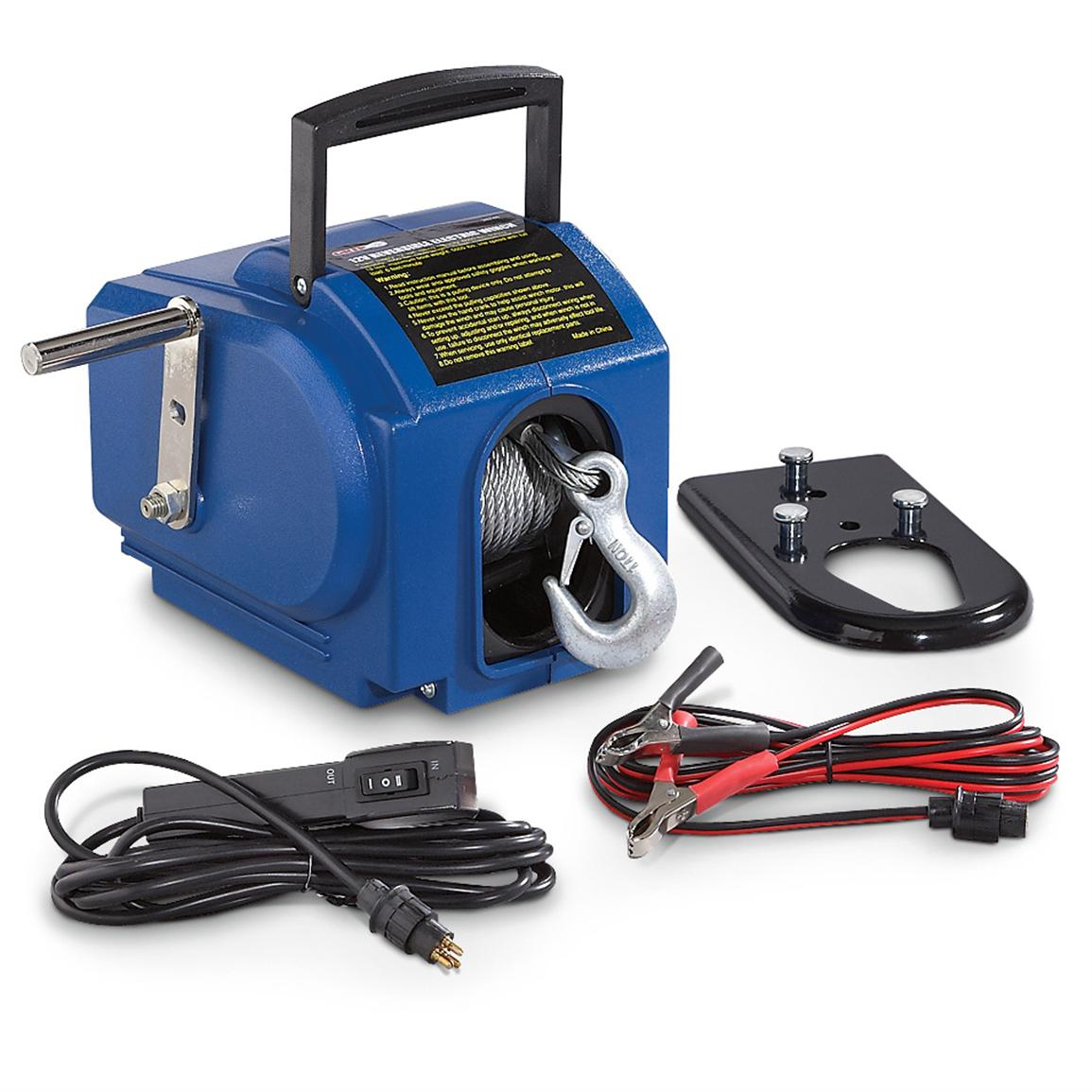Grip-On® 6,000-lb. 12V Reversible Electric Winch