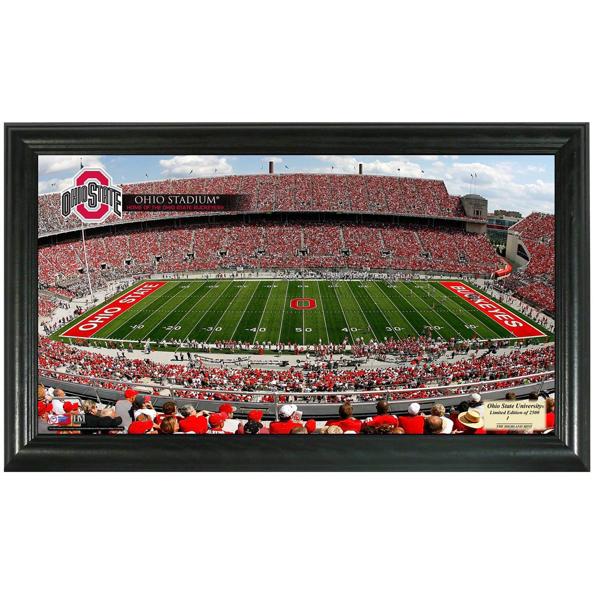 Highland Mint® Ohio State University Stadium Gridiron Photo Display