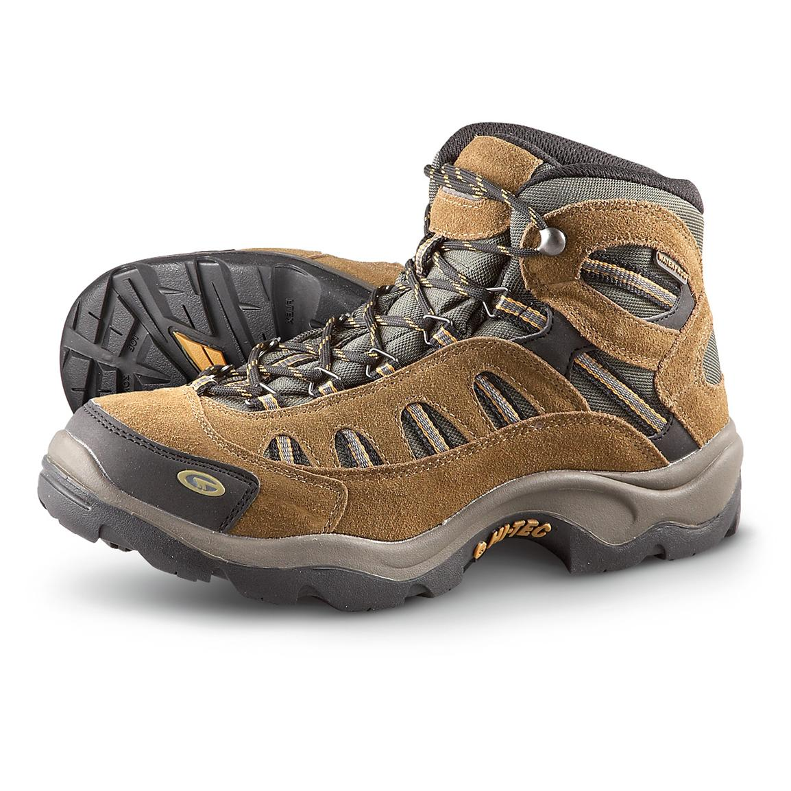 Men's Hi-Tec Bandera Waterproof Hiking Boots, Bone / Brown ...