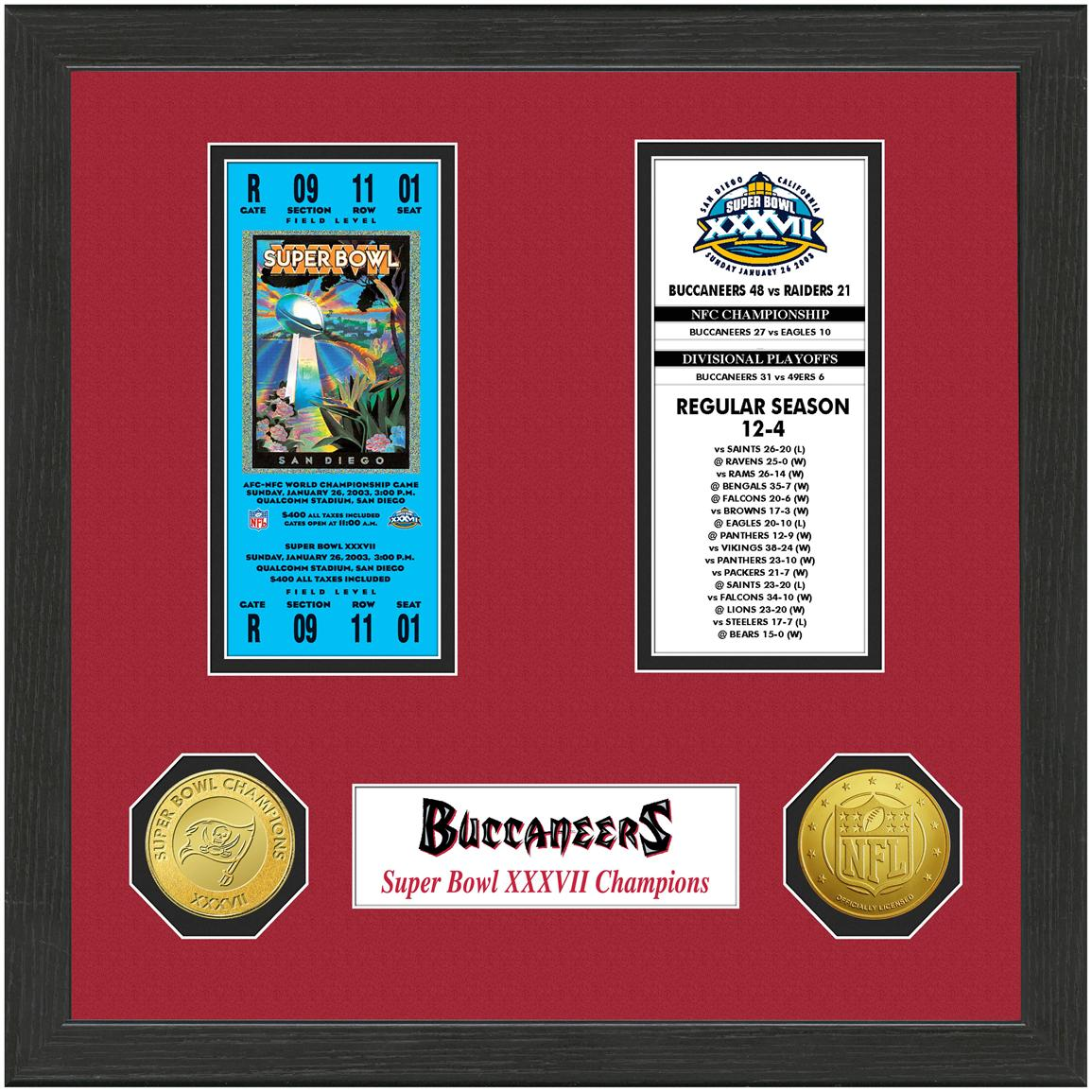 Tampa Bay Buccaneers Super Bowl Championship Ticket Collection