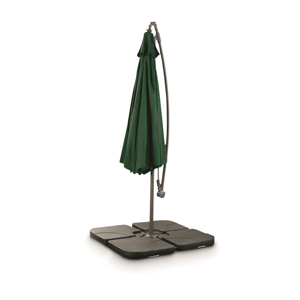 CASTLECREEK 10' Cantilever Patio Umbrella, Hunter Green