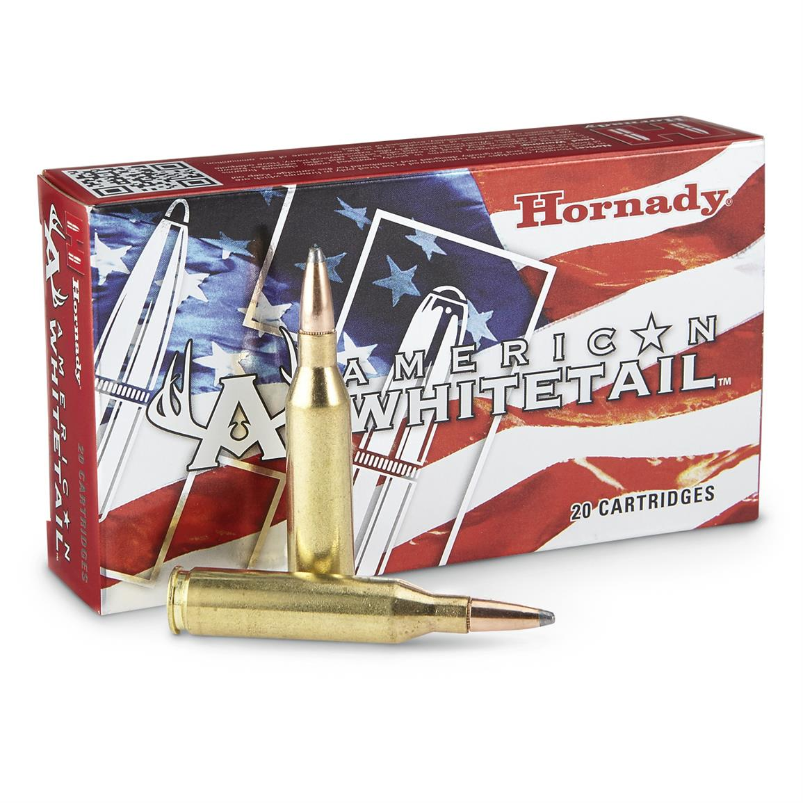 Hornady American Whitetail, 7mm Remington Magnum, InterLock SP, 139 Grain, 20 Rounds