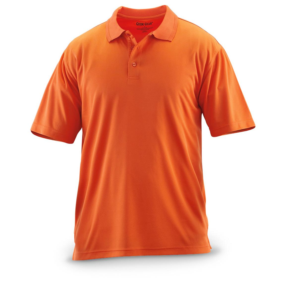 Guide Gear® Short-sleeved Performance Polo, Orange