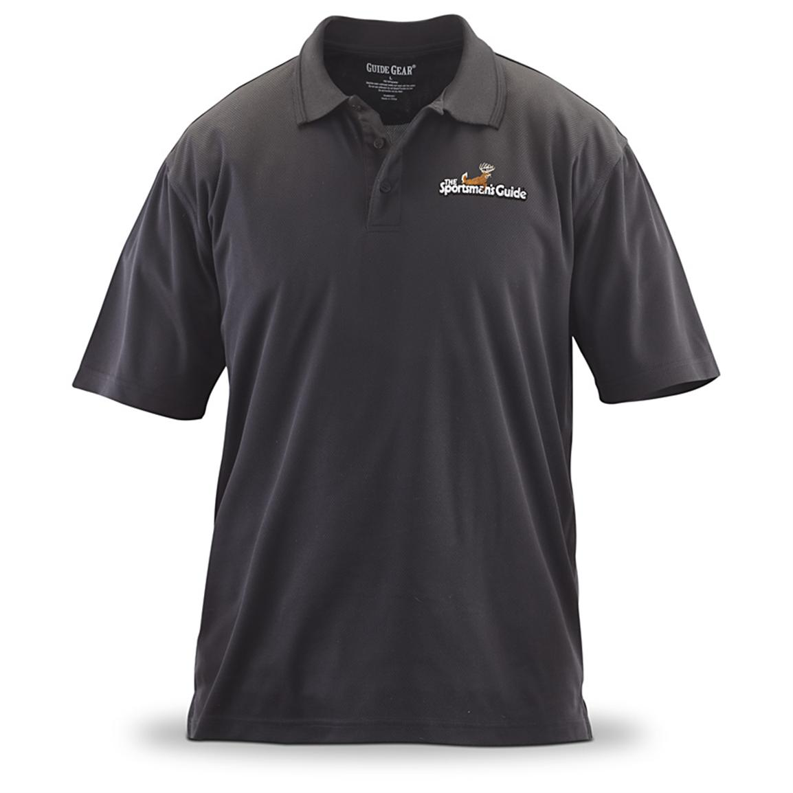 Men's Sportsman's Guide® Logo Performance Polo Shirt, Black