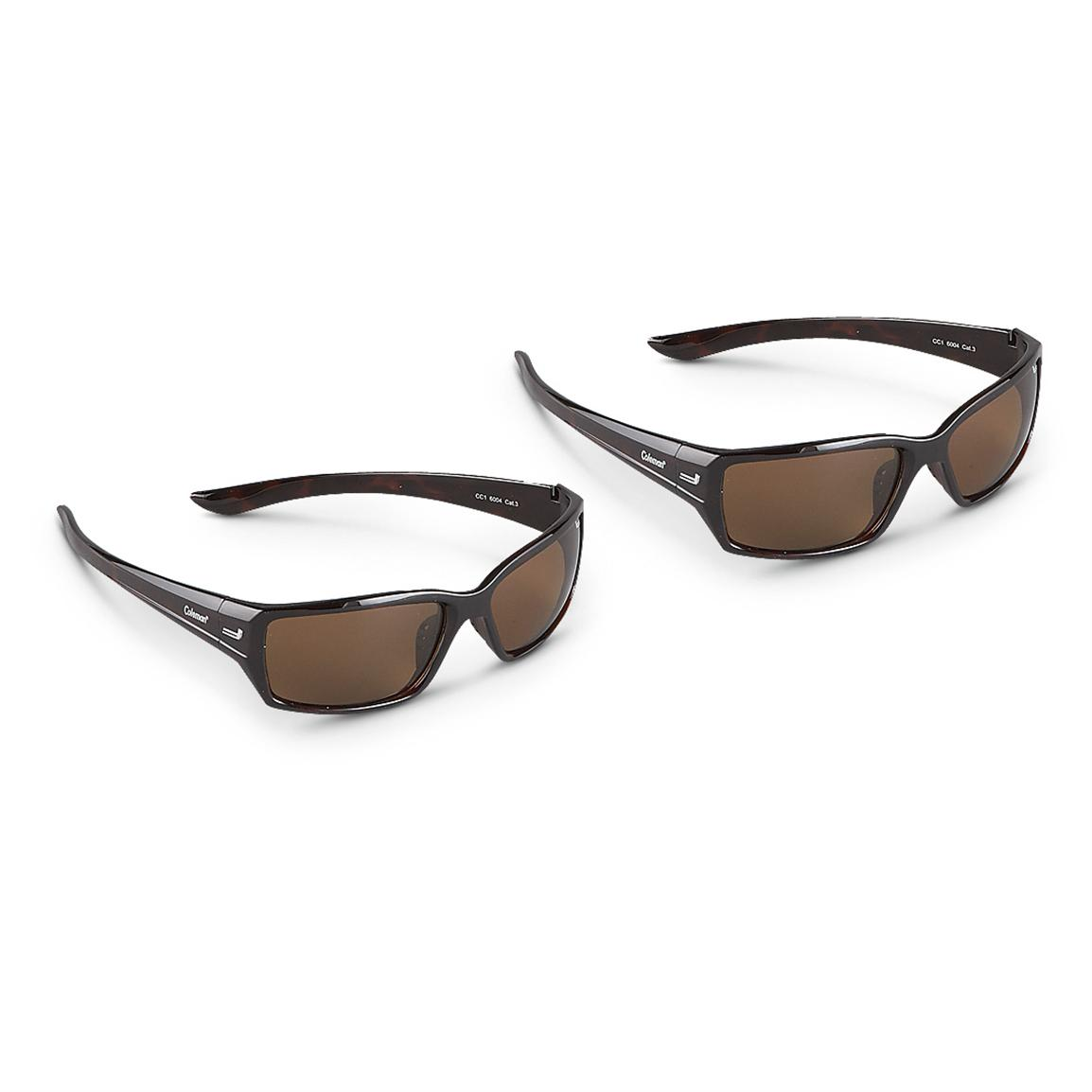 2-Pk. of Coleman® Polarized Sunglasses, Brown