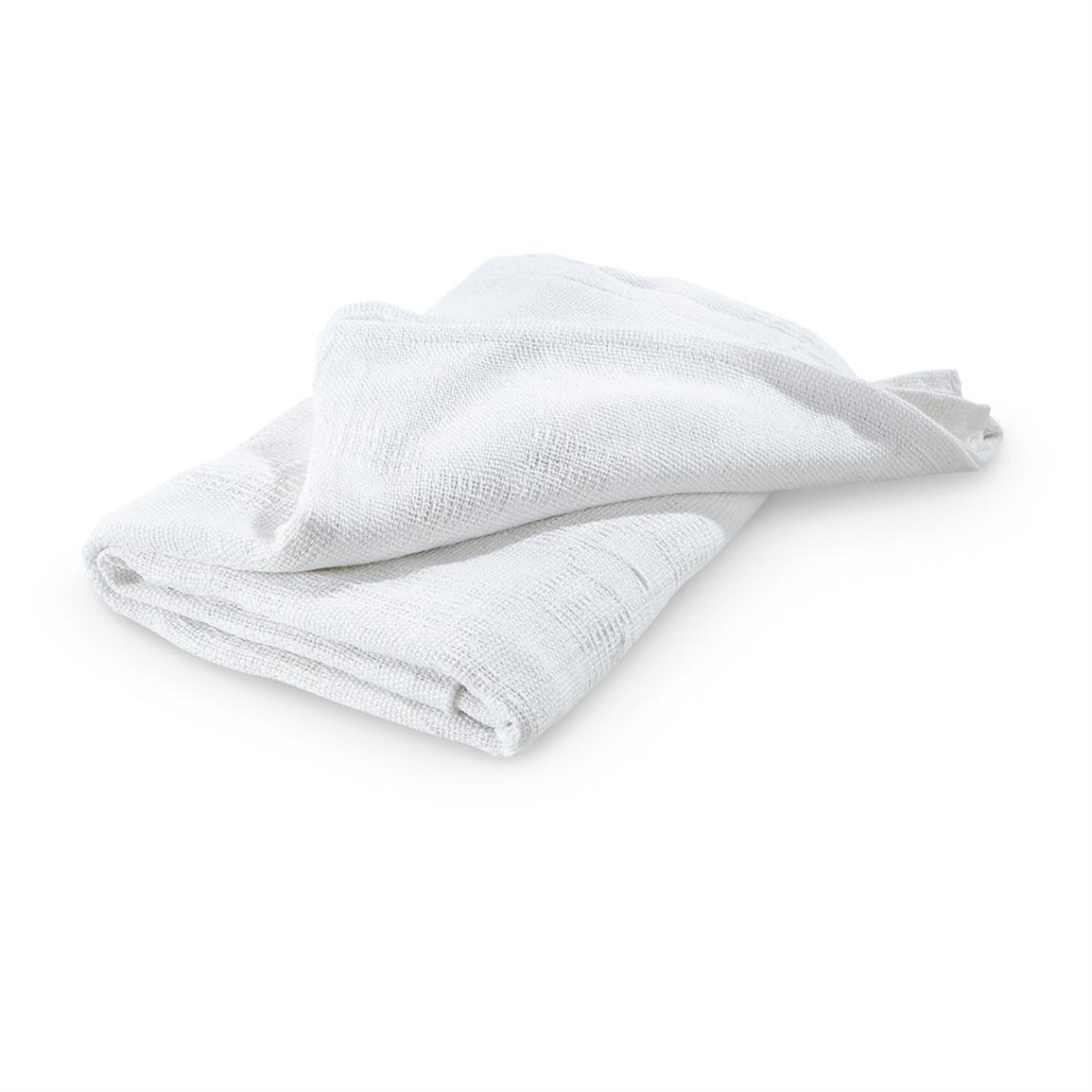 2-Pk. of New Military-style Hospital Blankets, White