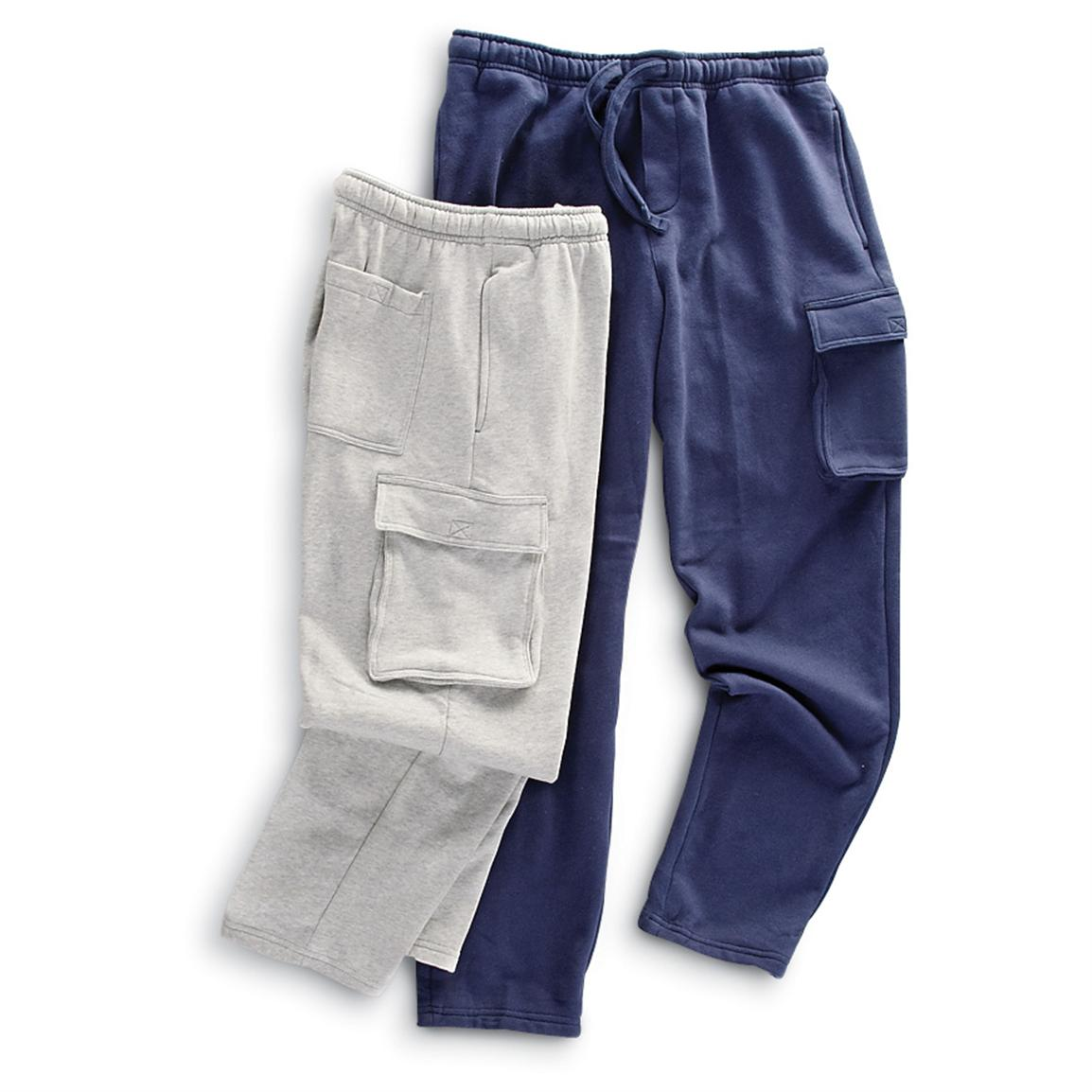 2 Rio Cargo Fleece Pants, 1 Gray / 1 Navy