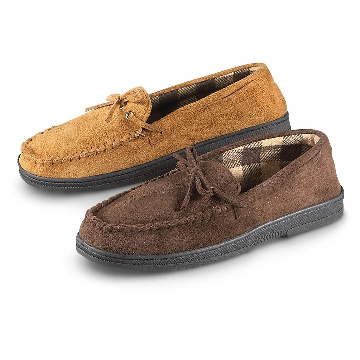Men's John Ashford® Microsuede Moc Shoes