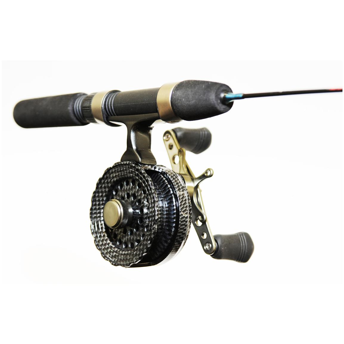 eagle claw inline ice fishing spinning rod reel combo