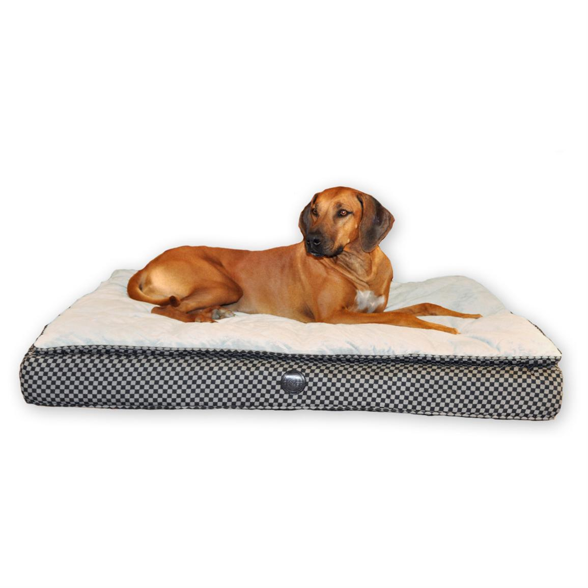 K&H Pet Products Feather Top Ortho Bed™, Tan / Brown