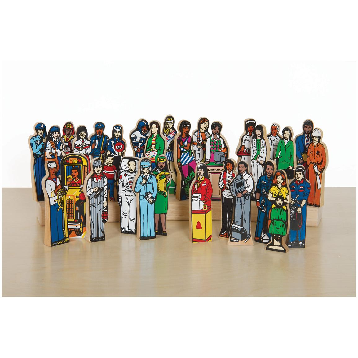 "Guidecraft® ""Careers"" Toy Wood Figurines, Set of 30"