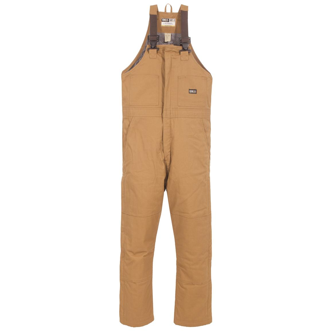 Berne® Flame-resistant Insulated Bib Overalls, Brown