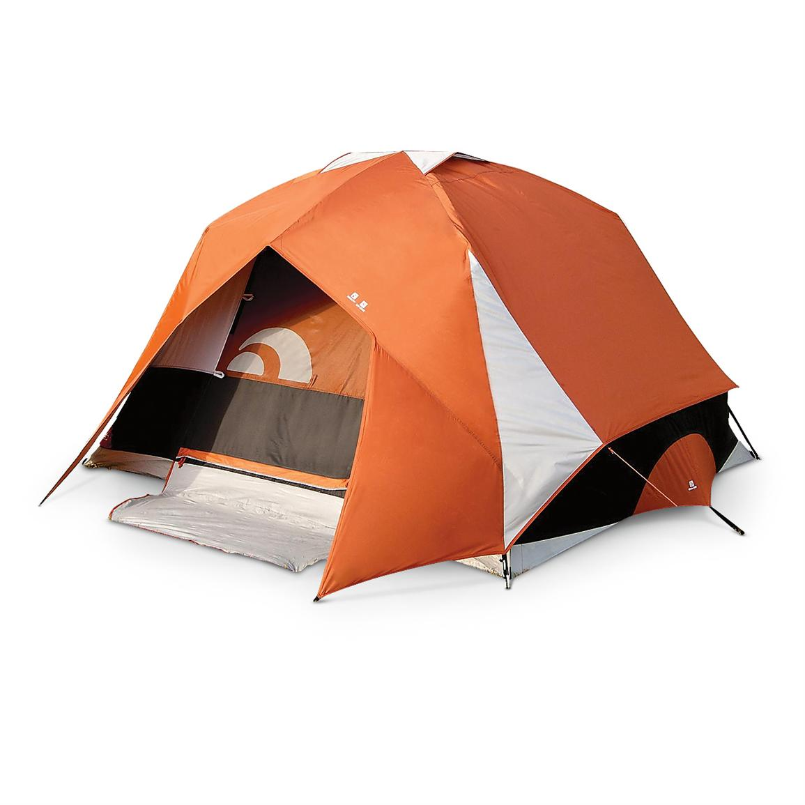 Igloo® Blue Mountain II Dome Tent, Orange / Tan