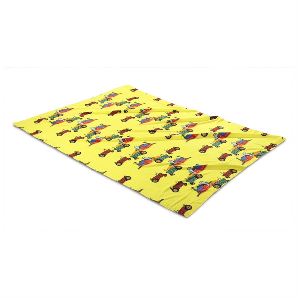 Super Size Fleece Throw Blanket, Tractor