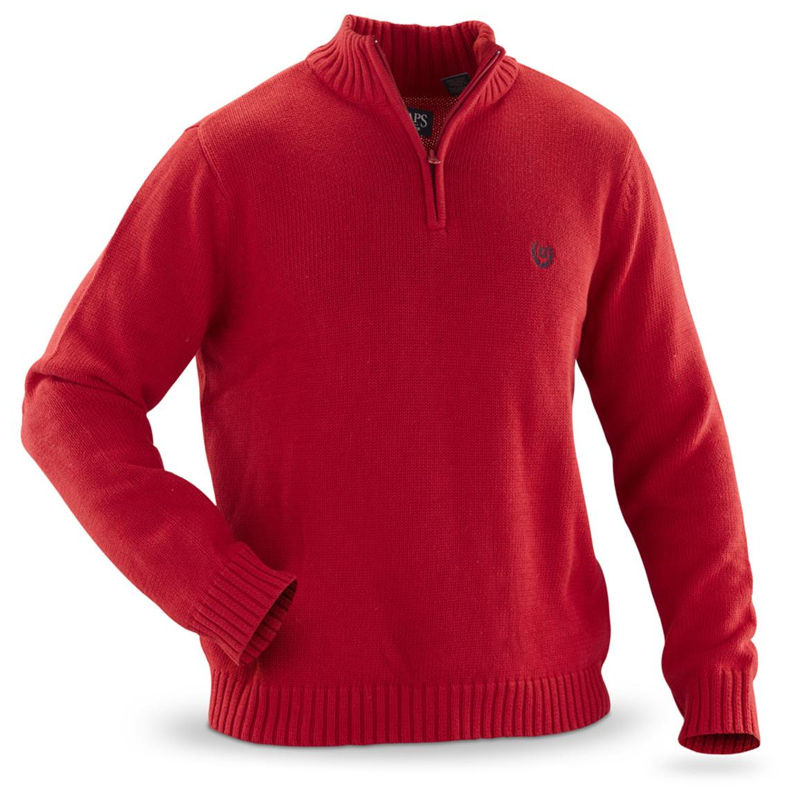 Men's Chaps® 1/4 - zip Sweater - 235973, Sweaters at Sportsman's Guide